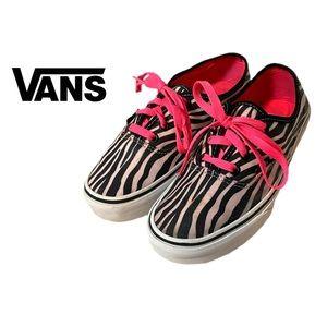 Vans Zebra Canvas Low Top Sneakers